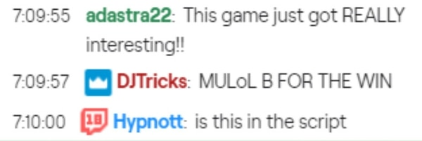 Twitch chat questions the sanctity of competition