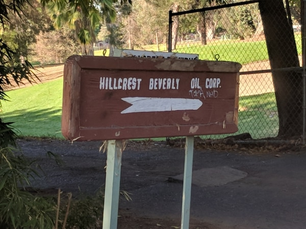 Entrance to Hillcrest Beverly Oil Corp. in West LA. (Anthony Ciardelli/USC Annenberg Media)