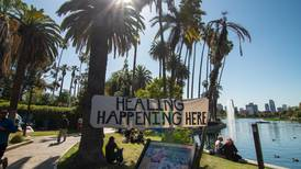 Pending Echo Park Lake closure leaves unanswered questions for the homeless community living there