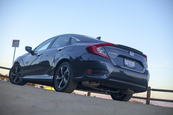 "Although the new Civic may appear massive, the increase in difference is subtle (Amou ""Joe"" Seto/USC Annenberg Media)"