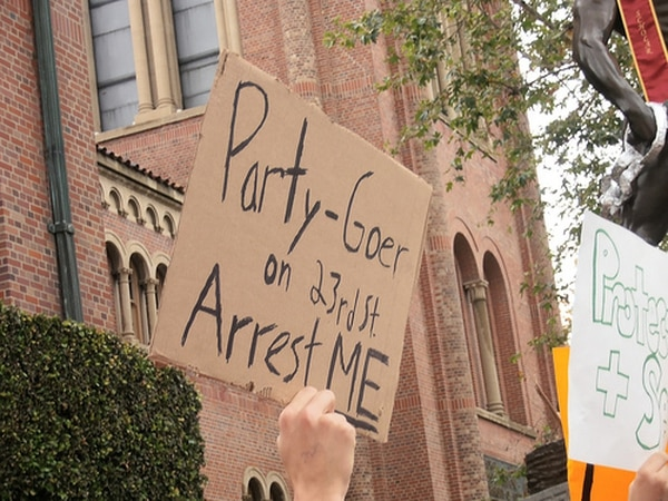 LAPD's shutdown of the May 2013 party resulted in protests, as well as a class-action lawsuit against the department. (Photo by Jeremy Fuster/Neon Tommy)