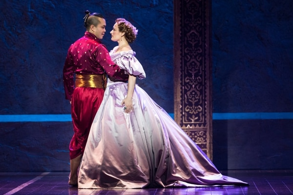 Jose Llana and Laura Michelle Kelly in Rodgers & Hammerstein's The King and I. (Photo by Matthew Murphy)