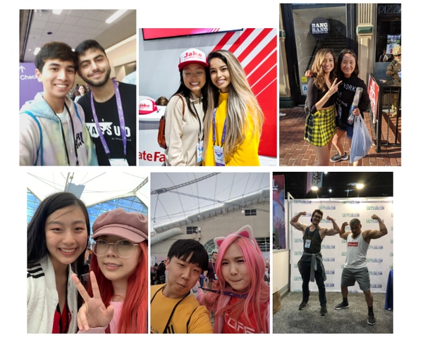 USC students meeting streamers in real life. (Photo by of Kim Do)