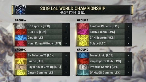 World Championship Group Stage (Image courtesy of Twitter user: @T1 LoL)