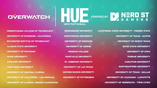 List of Overwatch teams participating in the Hue invitational
