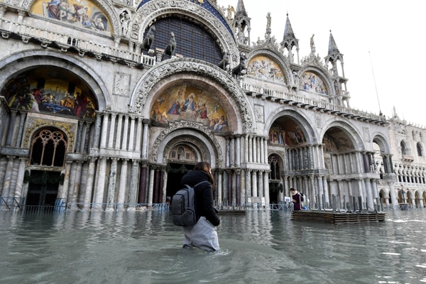 Flooding in Venice, Italy, in December 2019. (Luigi Costantini/AP)