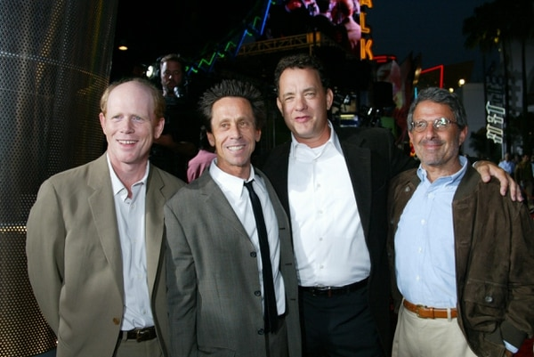 Ron Howard, Brian Grazer, Tom Hanks and Ron Meyer at the APOLLO 13 premiere. (Photo courtesy of NBCUniversal/Alex Berliner)