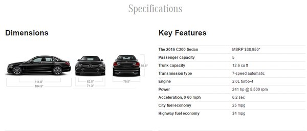 Screencapture from Mercedes-Benz's website.