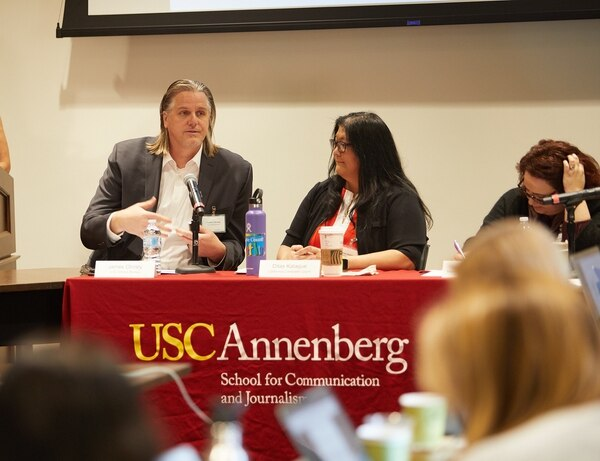 James Christy of the US Census Bureau speaking at USC on March 22, 2019