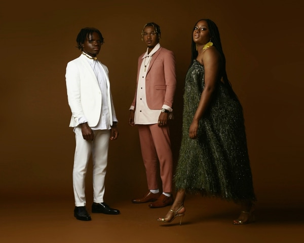 Haute Magazine included artist Jephtha Prempeh (left), rapper Kabwasa (center) and singer Ayoni (right). Photo Courtesy of Haute Magazine