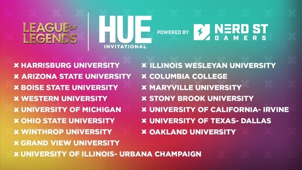 List of League of Legends teams participating in the Hue tournament