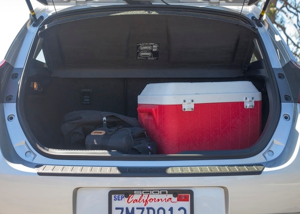 "Thanks to the hatchback design, the iM has plenty of room for all your things. (Amou ""Joe"" Seto/USC Annenberg Media)"