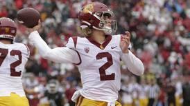 Unconventional-eyeblack-wearing, sideline-kiss-receiving Jaxson Dart has thrown himself into USC's starting quarterback conversation