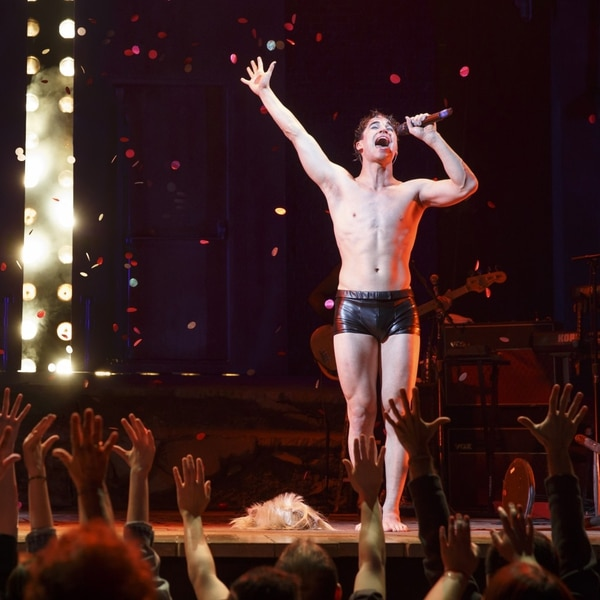 Darren Criss as Hedwig (Photo by Joan Marcus)