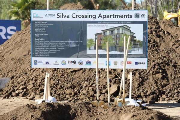 Groundbreaking of Silva Crossing, a 56-unit SH development built by Meta Housing and L.A. Family Housing. (Photo by Fawad Assadullah/Office of Mayor Eric Garcetti)