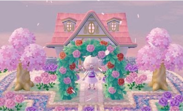 An example of a town in Animal Crossing: New Leaf with custom pathways. (Photo courtesy of mayor-iris/Tumblr).