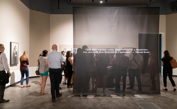 A quote featured in Kassan's exhibit,