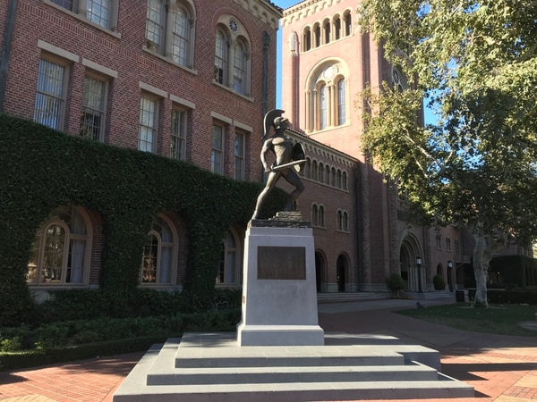 USC campus (Photo by Ruby Yuan).