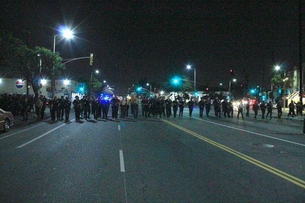 Seventy-nine LAPD officers showed up at a party attended primarily by Black students in May 2013. (Photo by Rikiesha Pierce)