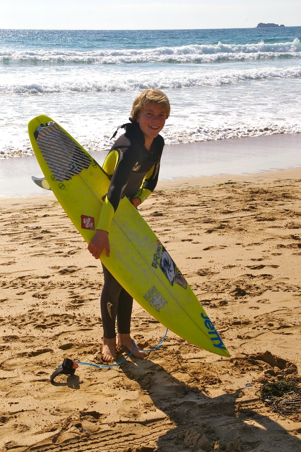 A big smile before heading into the water. Photo courtesy of Victoria bridges.