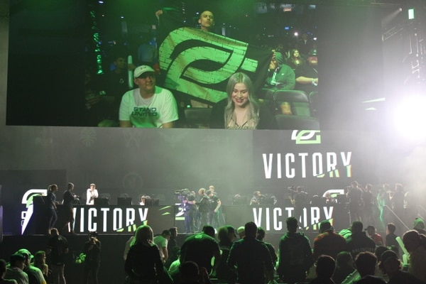 OpTic Gaming win their first match to the Guerrillas (Photo by Kelly Kim)