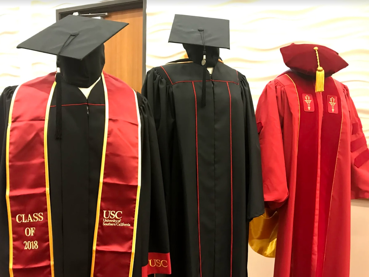 USC is requiring graduating students to wear its new branded gowns ...