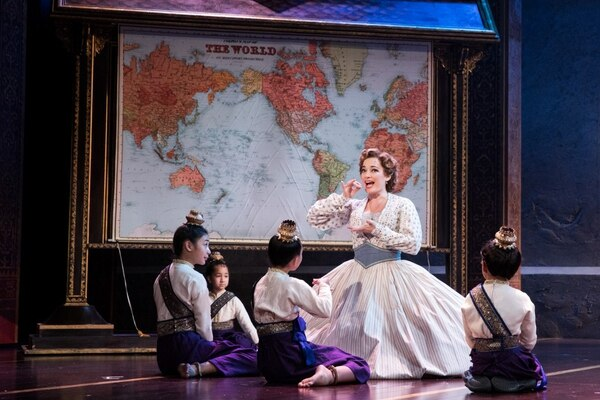 Laura Michelle Kelly as Anna and the Royal Children of Rodgers & Hammerstein's The King and I. (Photo by Matthew Murphy)