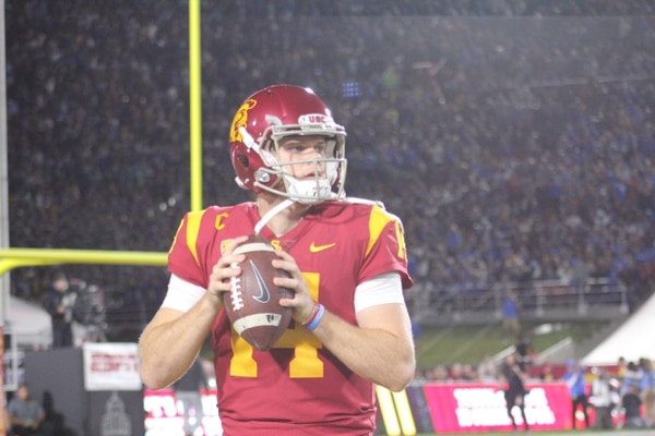 Sam Darnold has been up and down this season. The Trojans will need a strong performance in the Pac 12 Title game from Darnold.