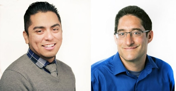 Selden Ring Award winners Aaron Glantz and Emmanuel Martinez (Photos by: Rachel de Leon/Reveal)