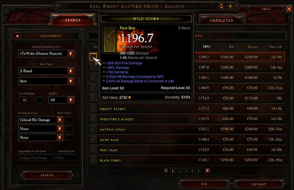 Diablo 3 utilized a Real Money Auction House that quickly went wrong.