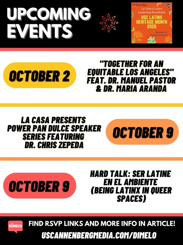 Celebrate Latinx Heritage Month with the USC community by attending these free virtual events.