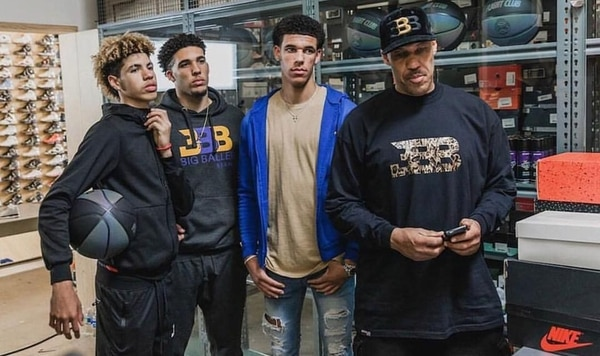 Melo Ball, Gelo Ball, Lonzo Ball, and LaVar Ball (Instagram: @melo)