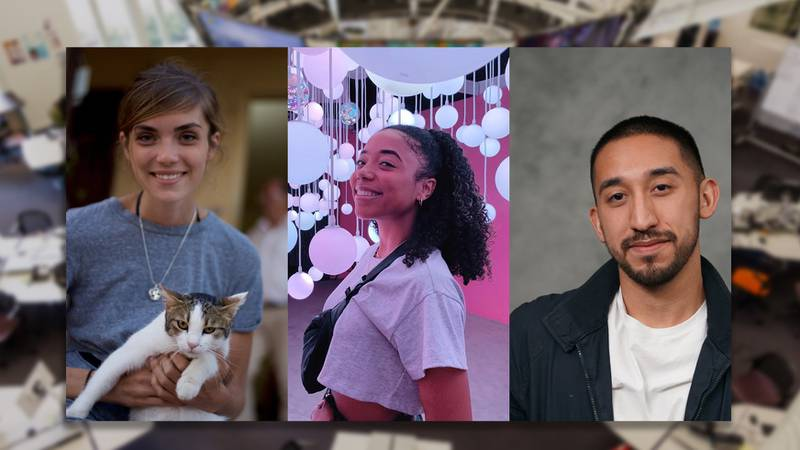 Kally Daniewicz, Pauline Woodley and Steven Vargas are part of the first iteration of Annenberg Media's Equity Board. Image with headshots of the three members.