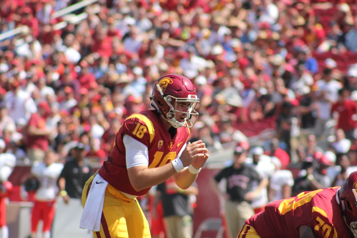 new concept 43ccc 7c1eb JT Daniels shines in debut as No. 15 USC defeats UNLV 43-21 ...